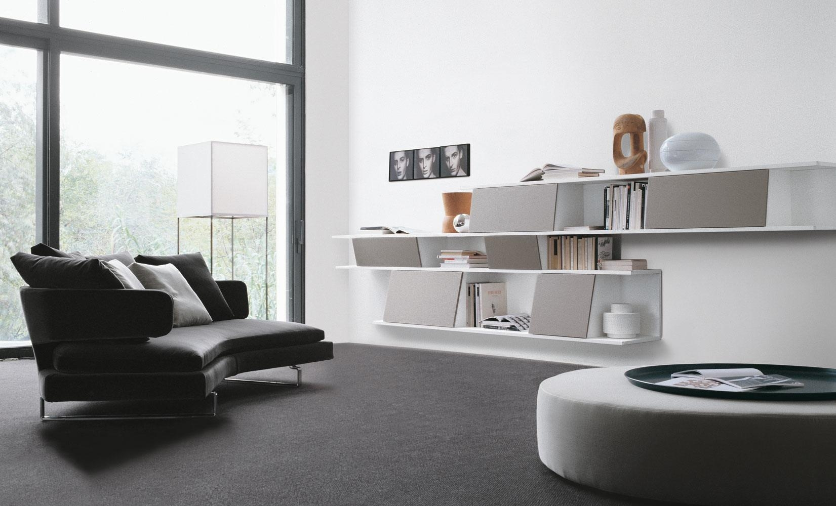 Living Room: Pretty Designs Of Floating Shelves Living Room In Floating Sofas (View 14 of 20)