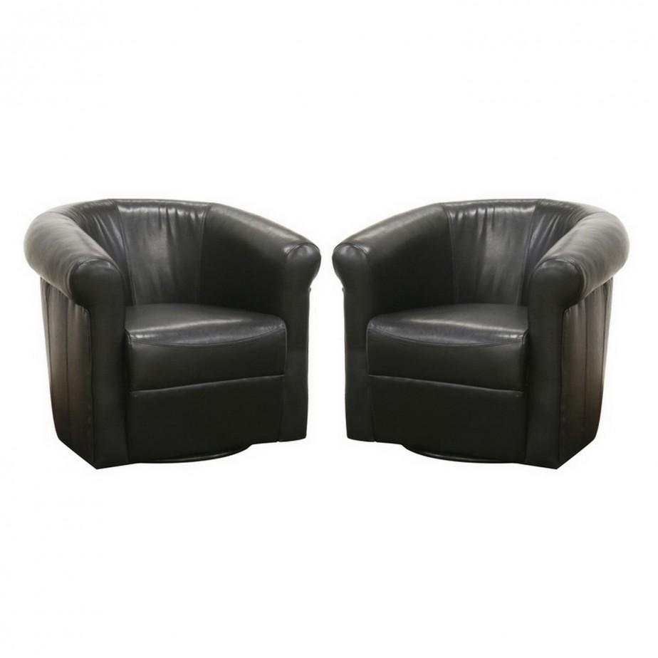 Living Room : Round Swivel Chairs Living Room Twin Black Leather In Round Sofa Chairs (Image 1 of 20)