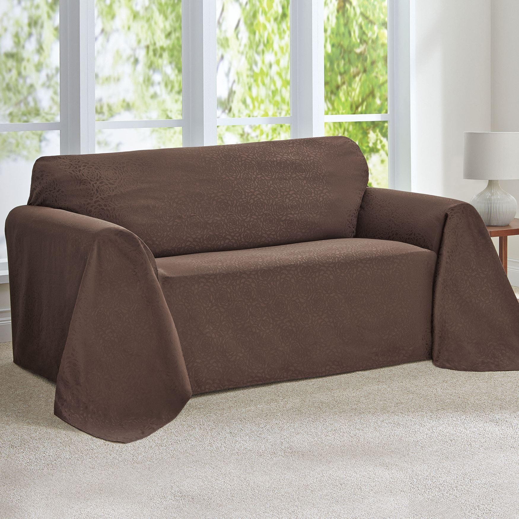 Living Room: Sofa Protector | Couch Covers Target | Leather Sofa Within Black Sofa Slipcovers (Image 16 of 20)