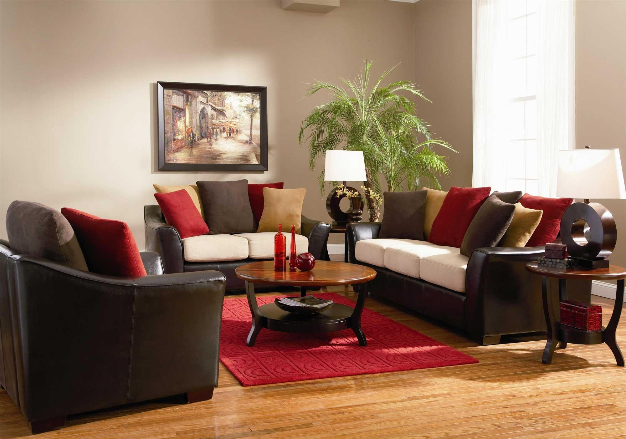 Living Room: Stunning Brown Couch Living Room Designs Dark Brown With Brown Sofa Chairs (View 4 of 20)