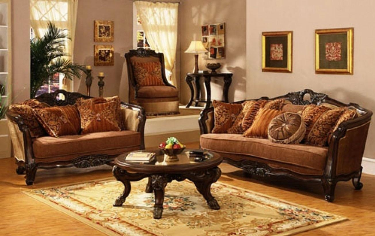 Living Room : Traditional Living Room Ideas With Leather Sofas Intended For Victorian Leather Sofas (Image 9 of 20)