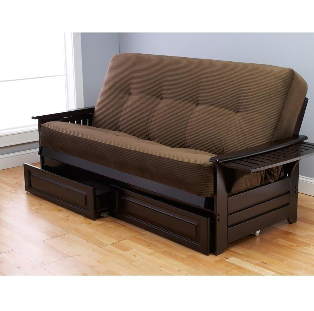 Living Room: Tufted Futon | Leather Futon Sofa Bed | Leather For Sofa Beds With Storage Underneath (Image 11 of 20)