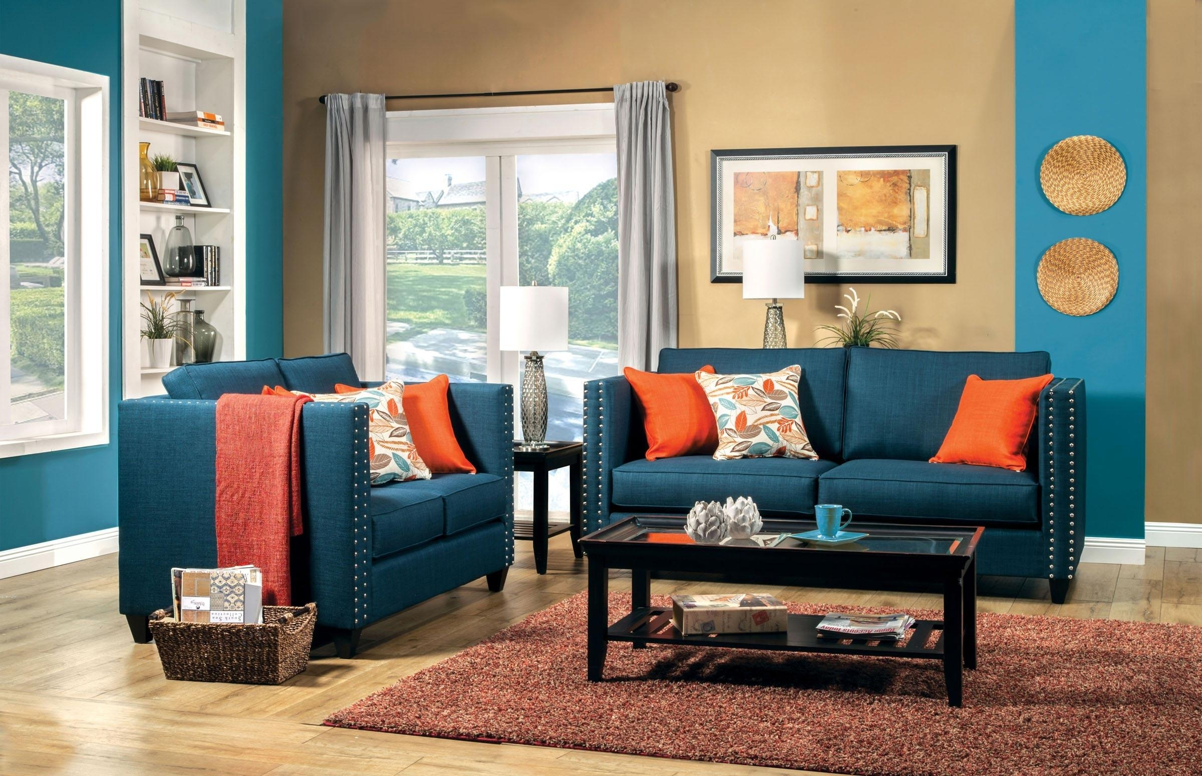 Living Room Wonderful Blue Couch Living Room Ideas Navy Blue Within Living Room With Blue Sofas (Image 16 of 20)