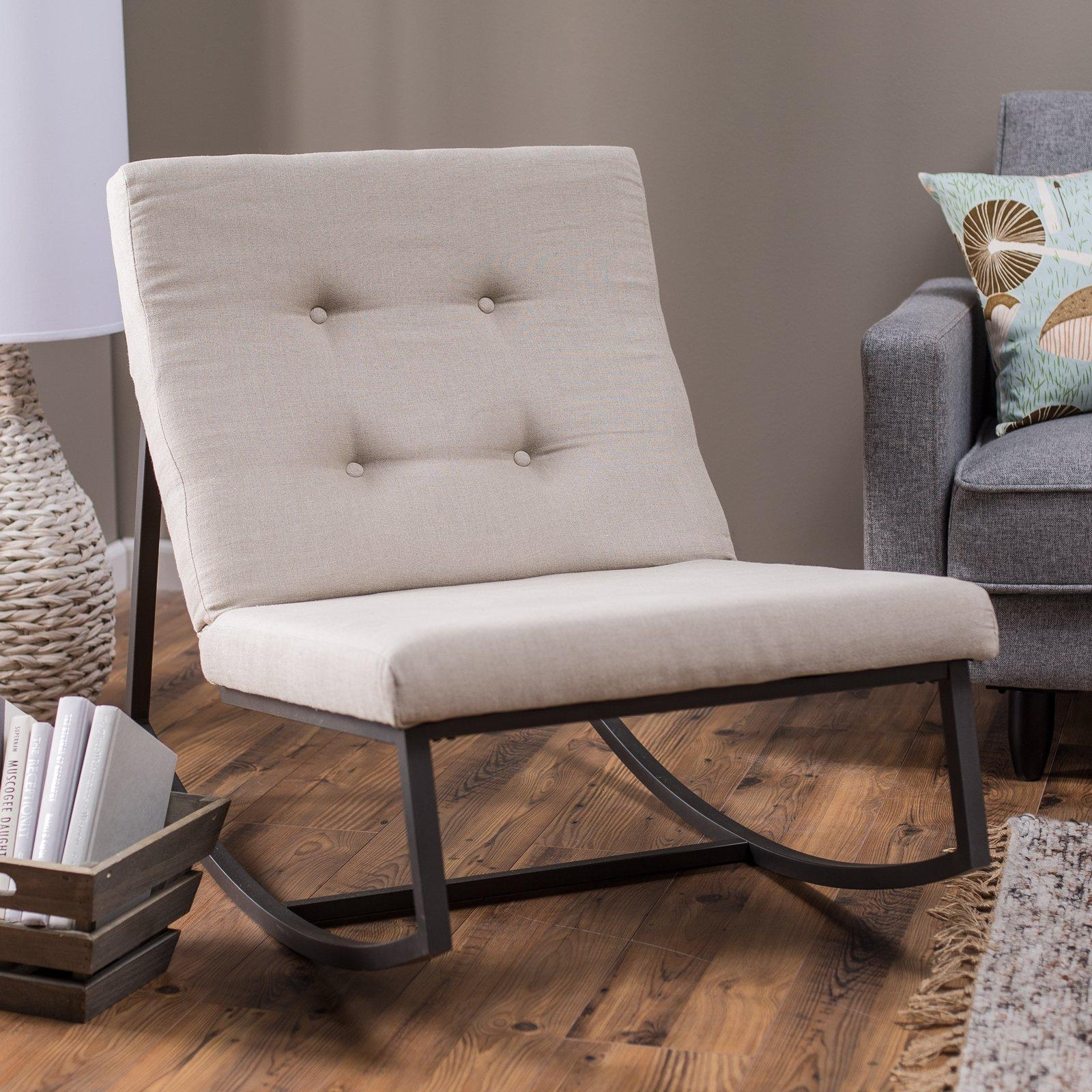 Living Room : Wonderful Rocking Chair Decorating Ideas With Black Regarding Rocking Sofa Chairs (Image 9 of 20)