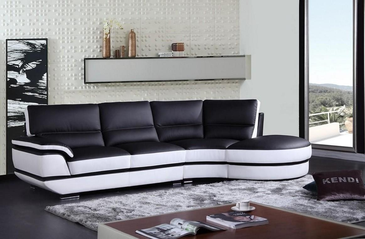 Living Room: Wonderful Small Living Room In Black And White Color With Regard To Sofas Black And White Colors (Image 17 of 20)