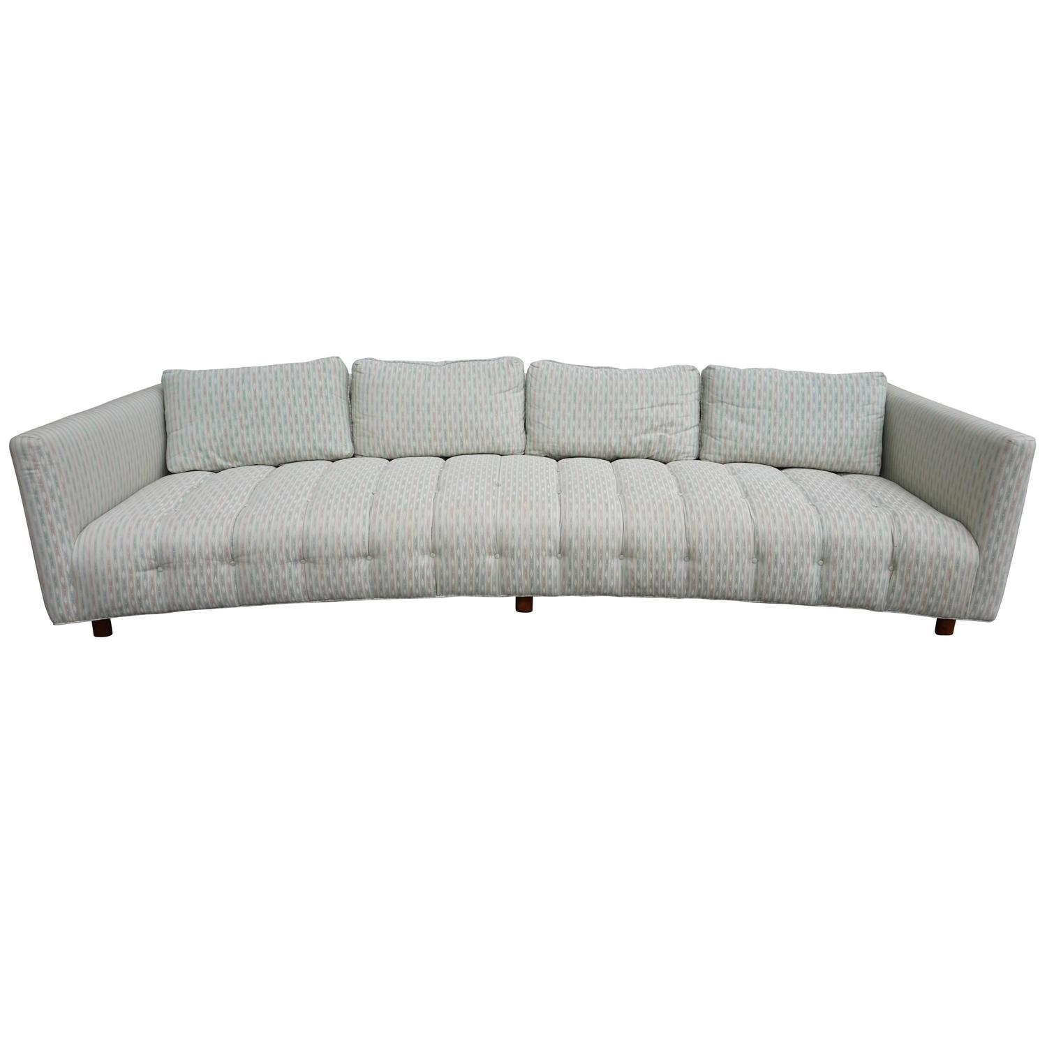 Long And Low Mid Century Sofa With Rounded Back At 1Stdibs Regarding Long Modern Sofas (Image 10 of 20)