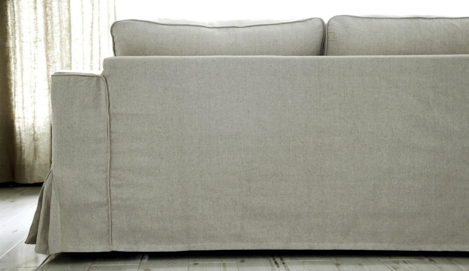 Loose Fit Linen Manstad Sofa Slipcovers Now Available With Slipcovers Sofas (Image 12 of 20)
