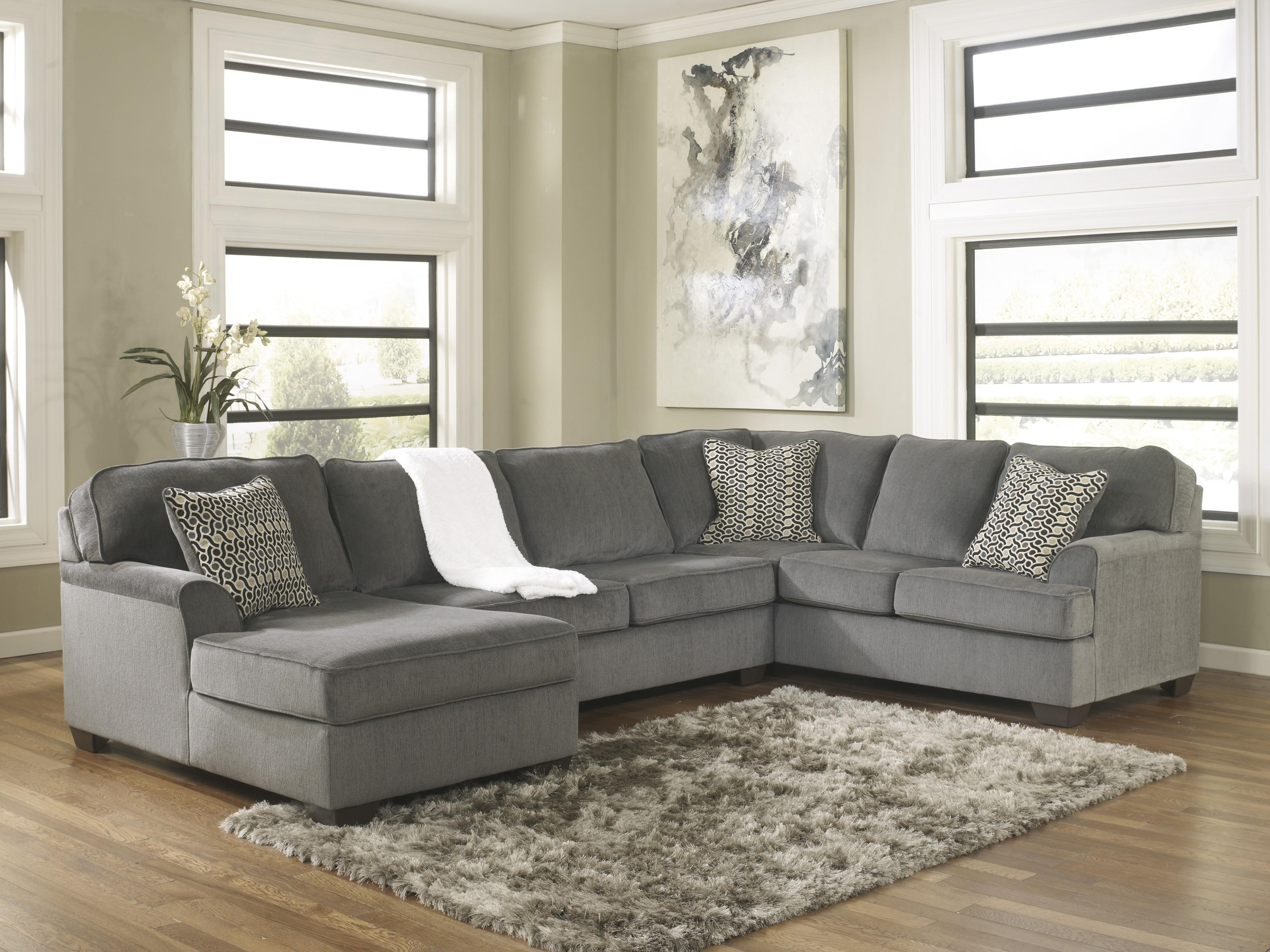 Loric Smoke 3 Piece Sectional Sofa For $ (Image 9 of 20)