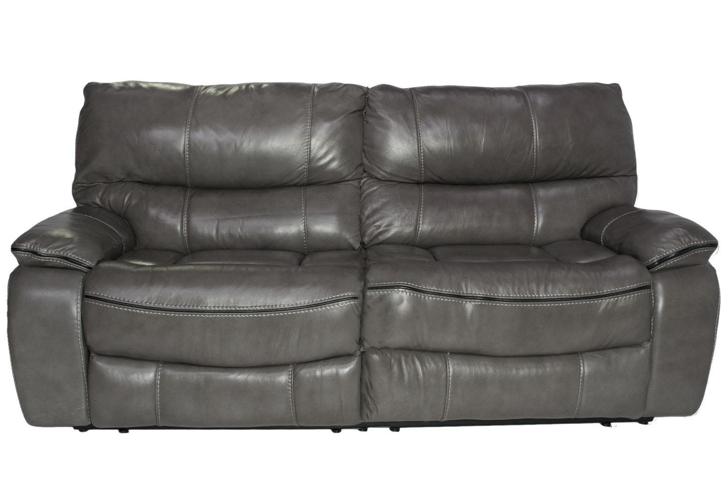 Lotus Leather Gray Reclining Sofa | Mor Furniture For Less With Gray Sofas (Image 13 of 20)