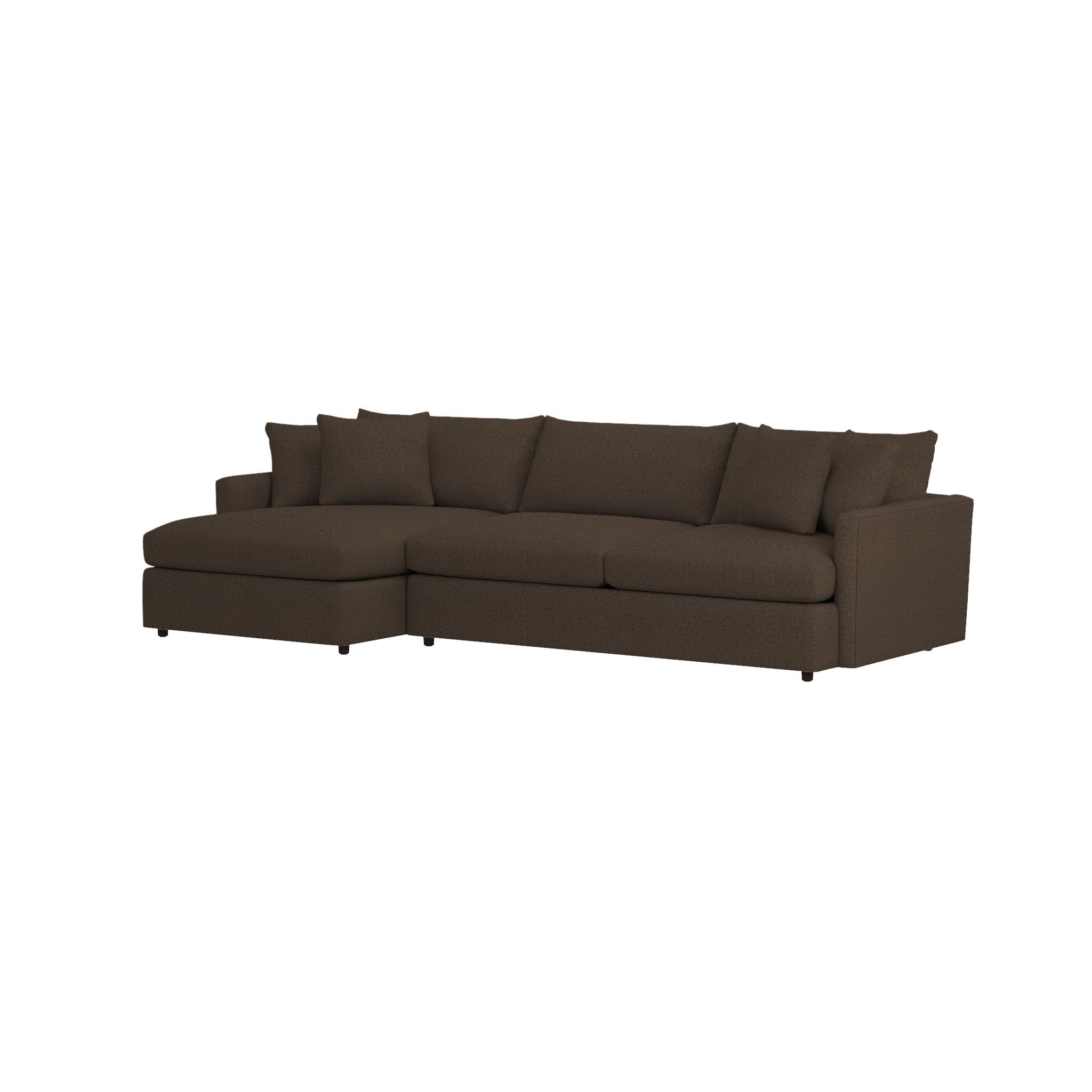 Lounge Ii Grey Chaise Lounge Sectional | Crate And Barrel Inside Sectional Crate And Barrel (View 3 of 20)