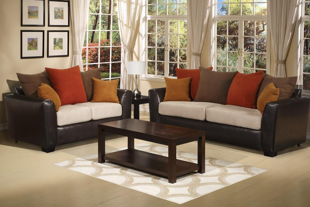 Love Seat And Sofa Set – Creditrestore Throughout 2 Piece Sofas (Image 10 of 20)
