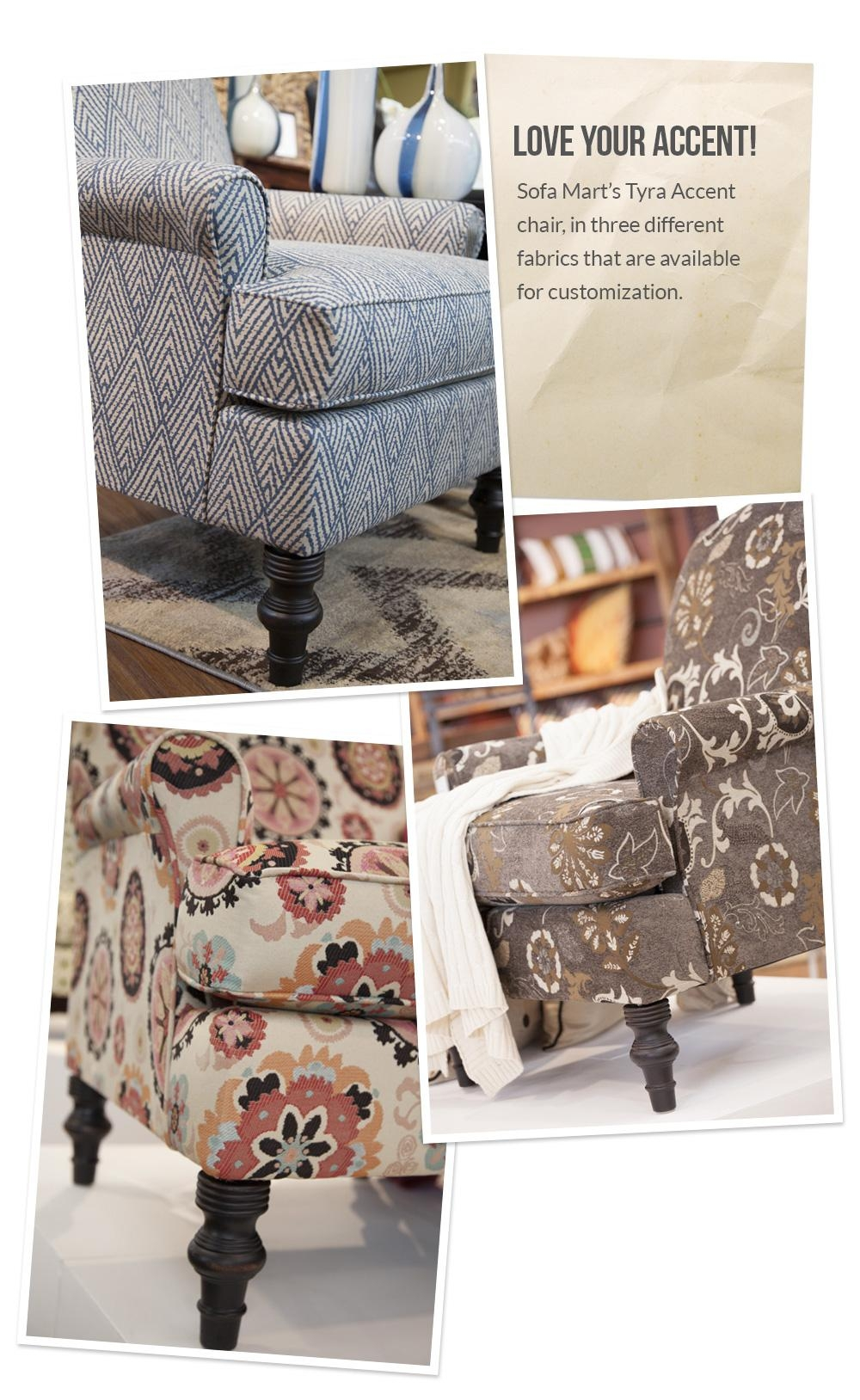 Love Your Accent! Custom Accent Chair Fabrics – Front Door Throughout Sofa Mart Chairs (View 14 of 20)
