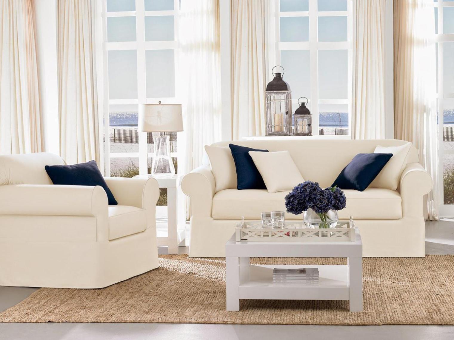 Loveseat Slipcover T Cushion : Doherty House – Contemporary For Loveseat Slipcovers T Cushion (View 12 of 20)