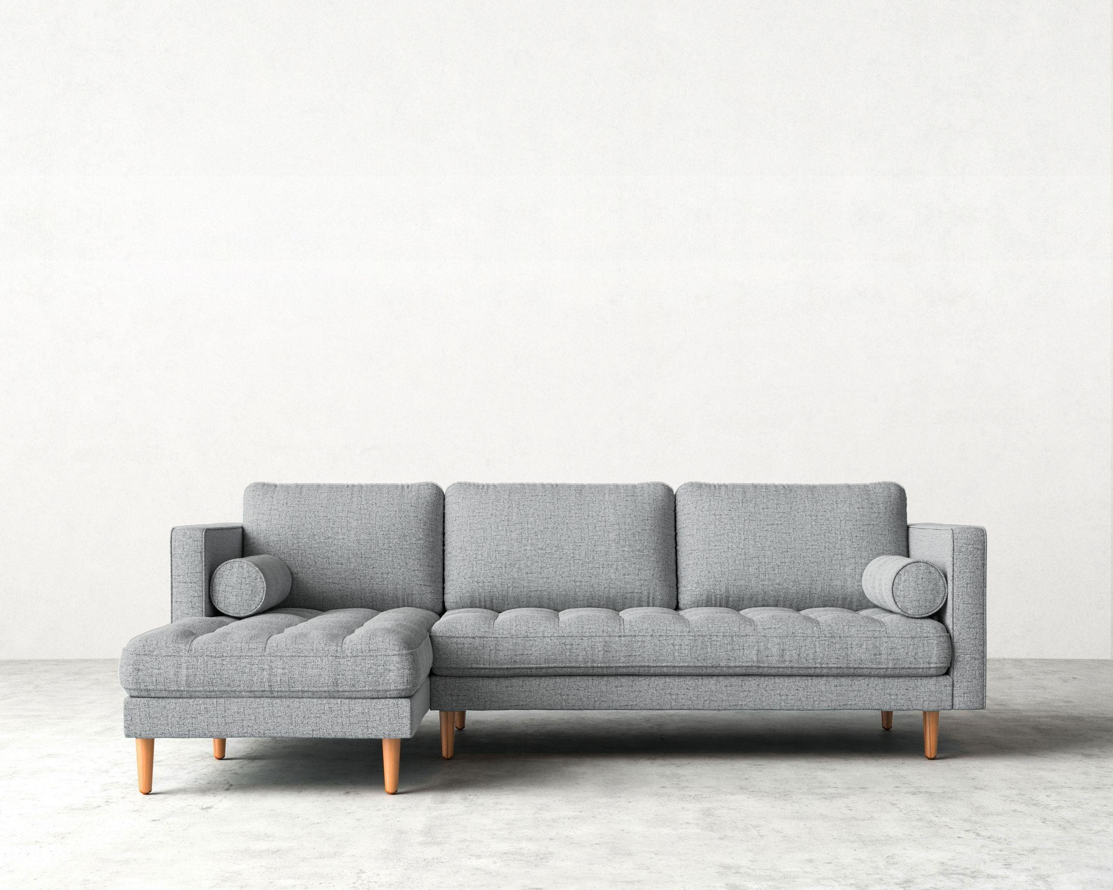 Luca Sofa Sectional | Mid Century Modern Sectional | Rove Concepts Inside Mid Century Modern Sectional (Image 3 of 20)
