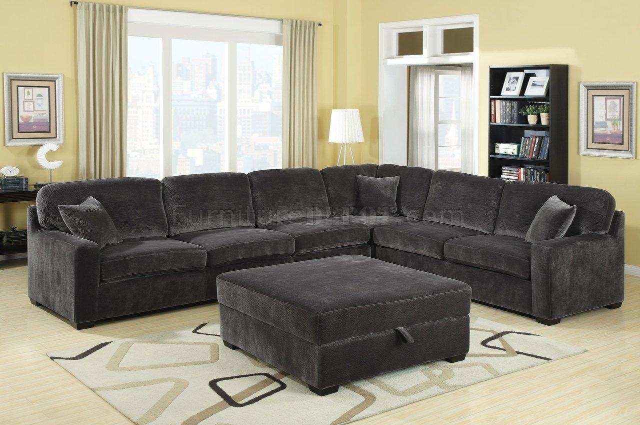 Luka Sectional Sofa In Charcoal Fabriccoaster Inside Coaster Sectional Sofas (Image 17 of 20)