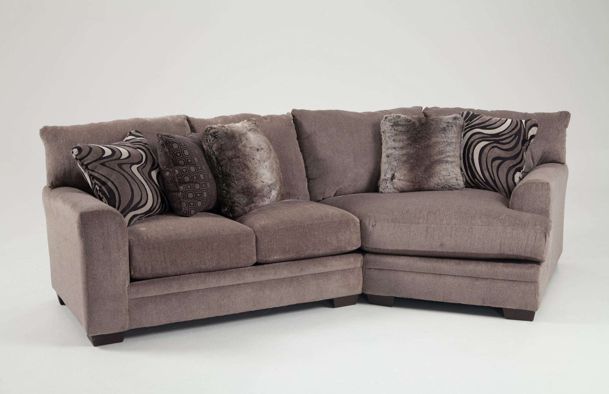 Luxe 2 Piece Sectional With Cuddler | Bob's Discount Furniture Pertaining To Sectional Cuddler (View 17 of 20)