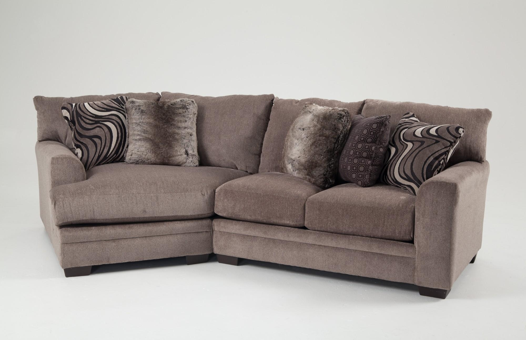 Luxe 2 Piece Sectional With Cuddler | Bob's Discount Furniture With Sectional Cuddler (Image 15 of 20)
