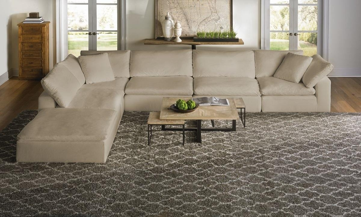 Luxe Slip Covered Sectional Sofa | Haynes Furniture, Virginia's Regarding Cloud Sectional Sofas (View 10 of 20)