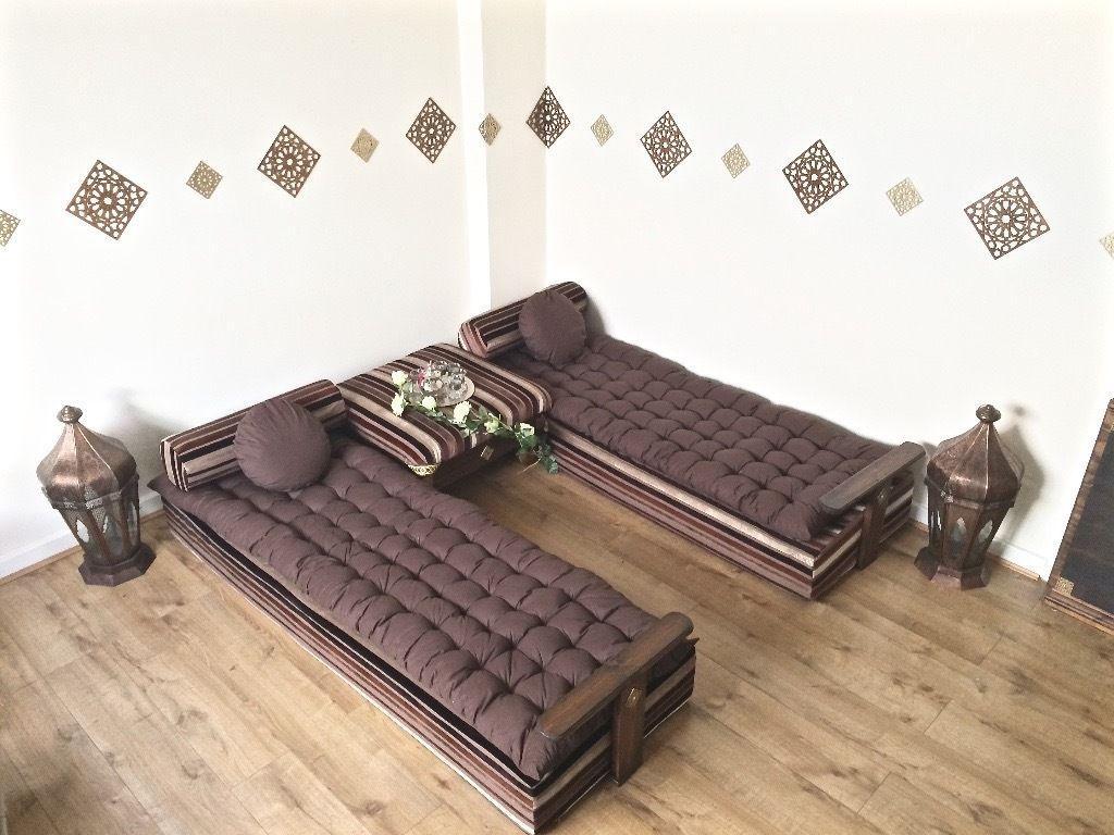 Luxurious Moroccan Floor Cushion, Sofa Bed, Double Futon Corner Regarding Floor Cushion Sofas (View 17 of 20)