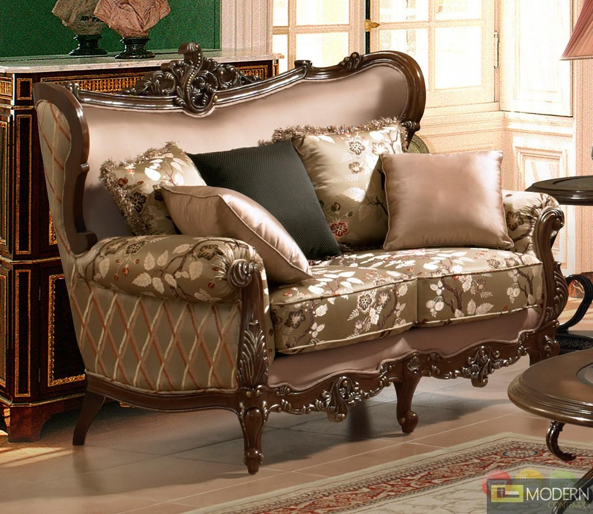 Luxurious Traditional Style Formal Living Room Furniture Set Zhd 03 Regarding Carved Wood Sofas (Image 15 of 20)