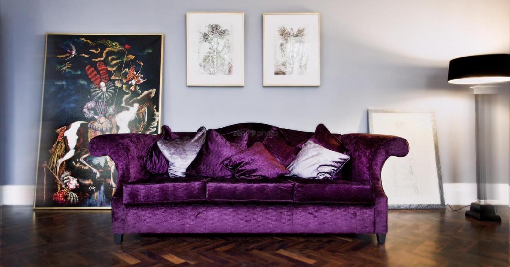 20 Inspirations Velvet Purple Sofas
