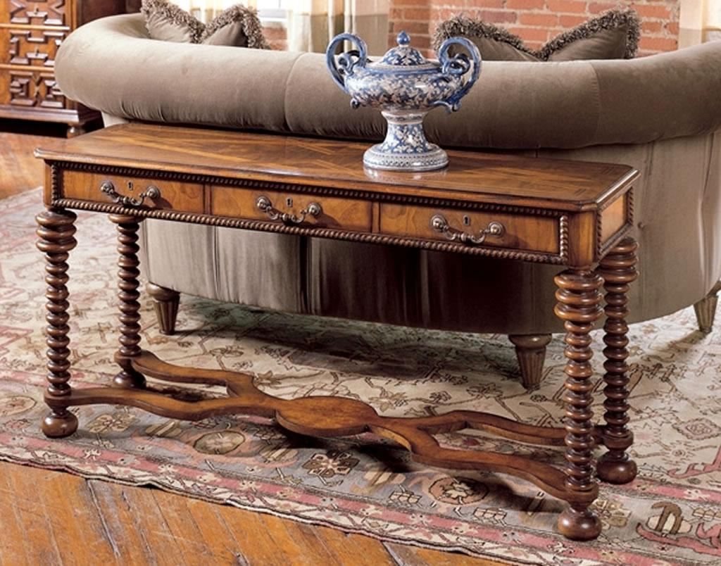 Luxury Home Furniture Design Of Tuscany Italian Sofa Table In Sofa Table Chairs (Image 11 of 20)