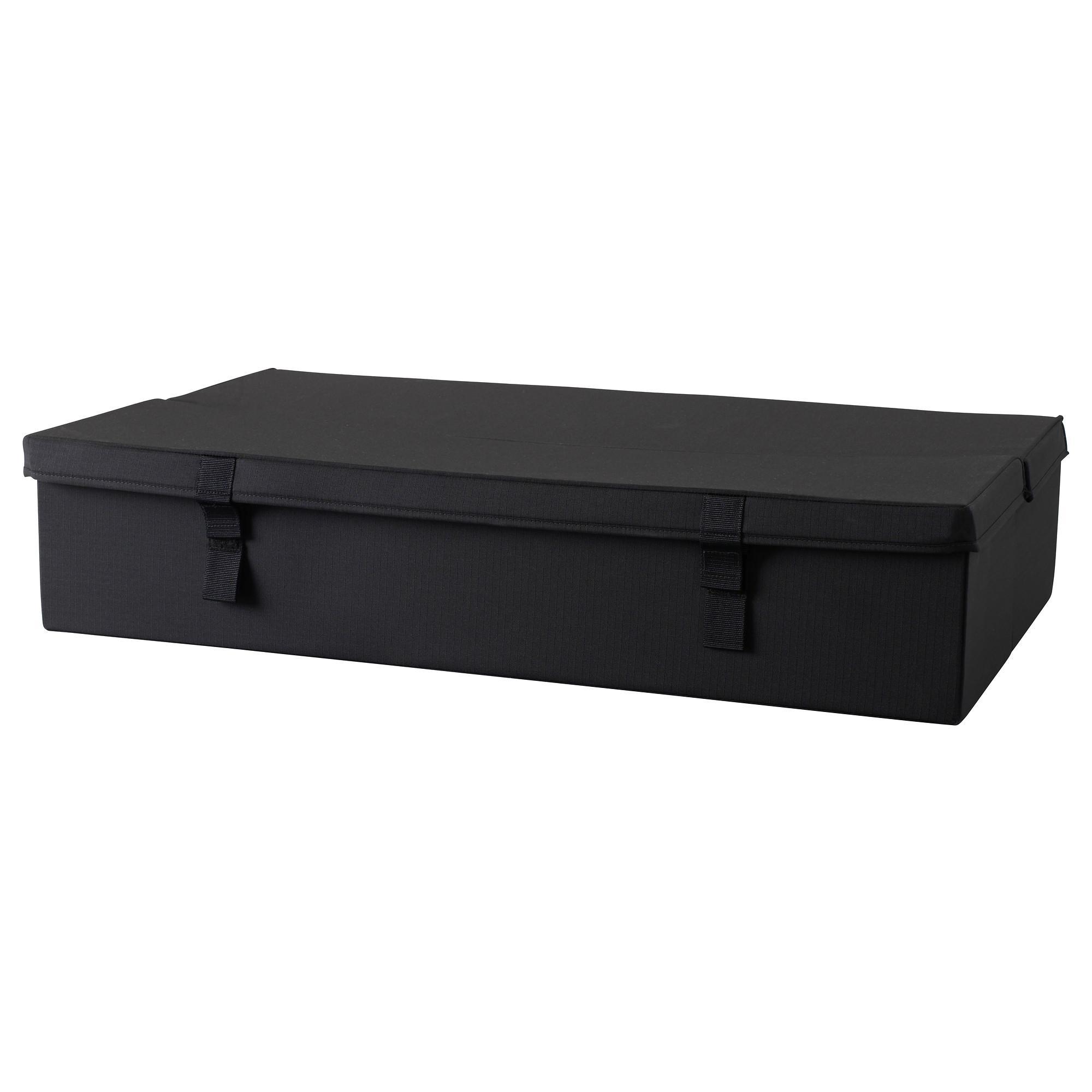 Lycksele Storage Box 2 Seat Sofa Bed Black – Ikea Inside Storage Sofa Ikea (Image 19 of 20)