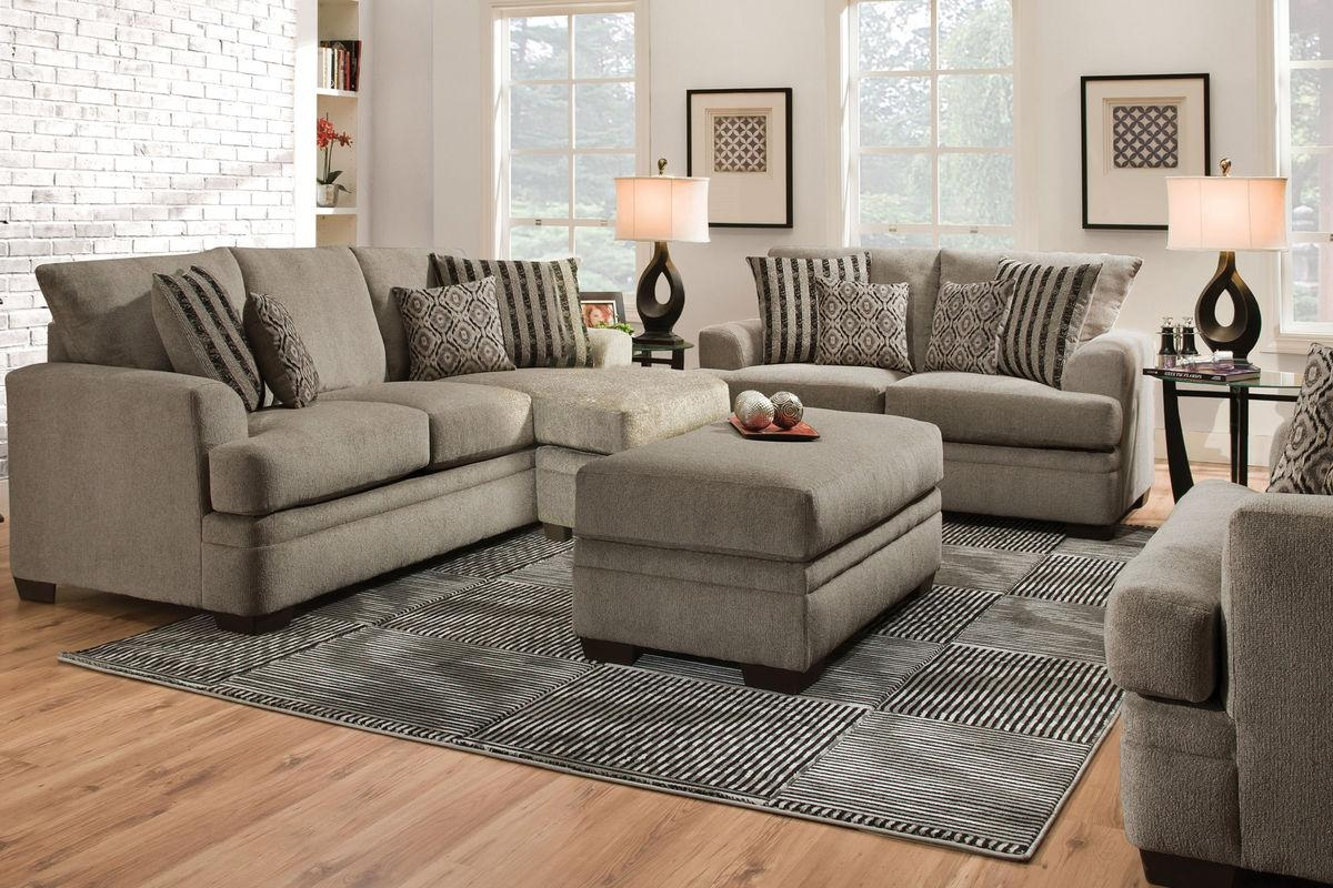Lynwood Chenille Sectional With Moveable Chaise With Regard To Chenille Sectional Sofas With Chaise (Image 17 of 20)
