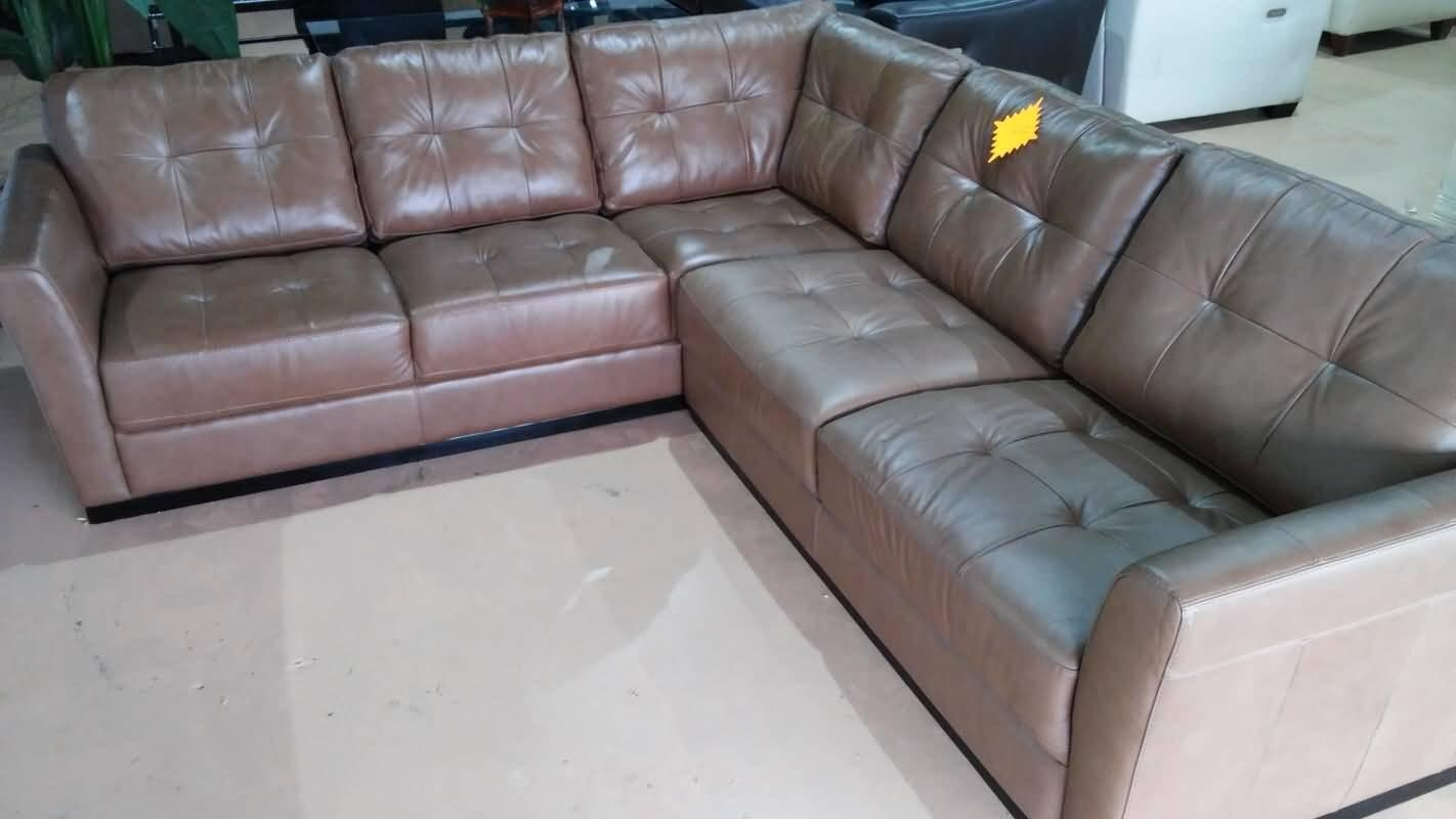 Macys 2 Pc Leather Sectional Sofa | W Script With Regard To Macys Leather Sofas Sectionals (Image 7 of 20)