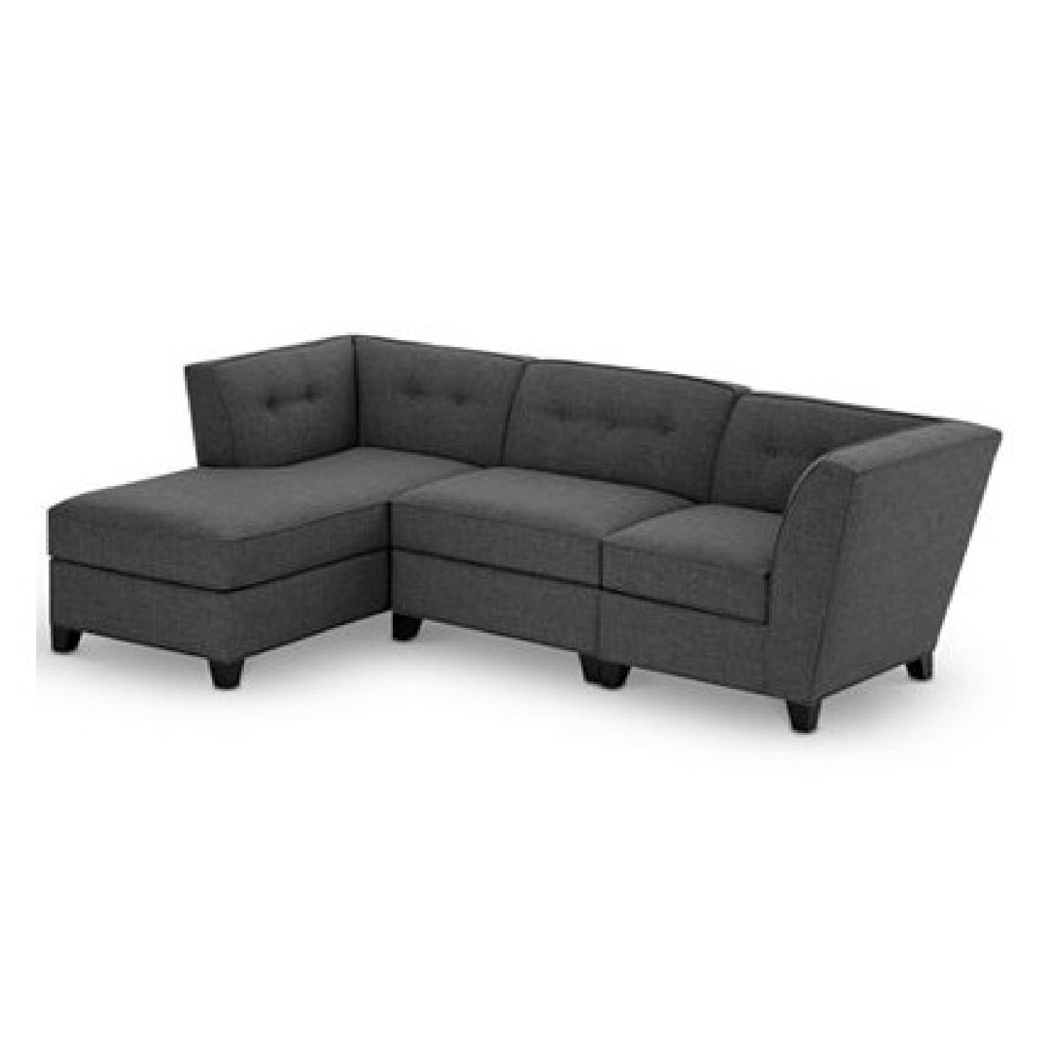 Macy's Harper Fabric 3 Piece Modular Chaise Sectional – Aptdeco Pertaining To Macys Sofas (View 19 of 20)