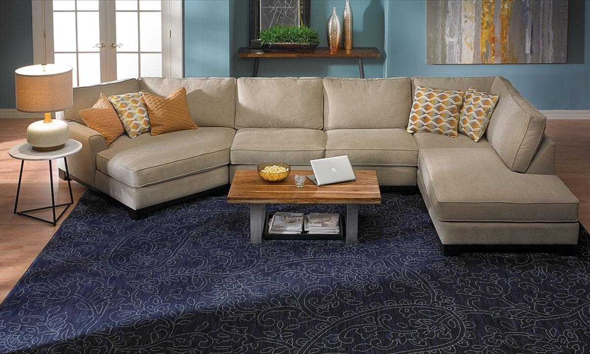 Made In La: Cuddler Chaise Sectional Sofa | Haynes Furniture Pertaining To Sectional Cuddler (View 3 of 20)