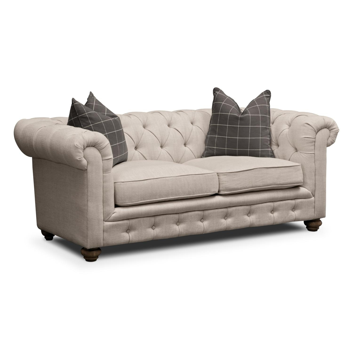 Madeline Sofa, Apartment Sofa And Accent Chair Set – Beige | Value For Sofa And Accent Chair Set (View 18 of 20)