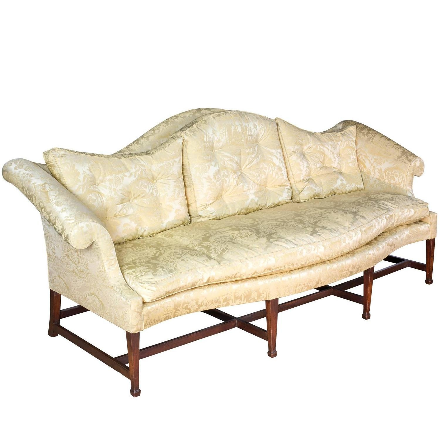 Mahogany Hepplewhite Camelback Sofa With Serpentine Back And Seat For Chippendale Camelback Sofas (Image 15 of 20)