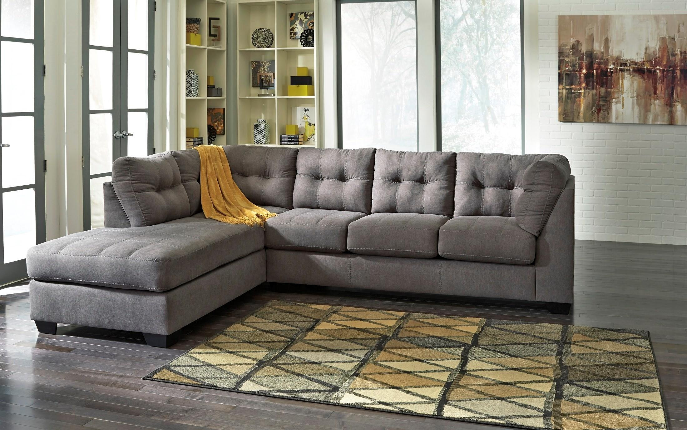 Maier Charcoal Laf Sectional From Ashley (45200 16 67) | Coleman Regarding Ashley Sectional Sleeper (Image 6 of 15)