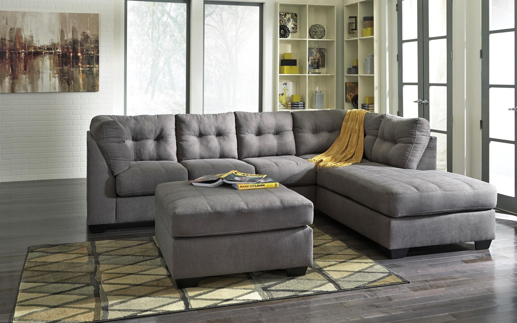 Maier Charcoal Raf Sectional From Ashley (45200 17 66) | Coleman For Ashley Sectional Sleeper (Image 7 of 15)