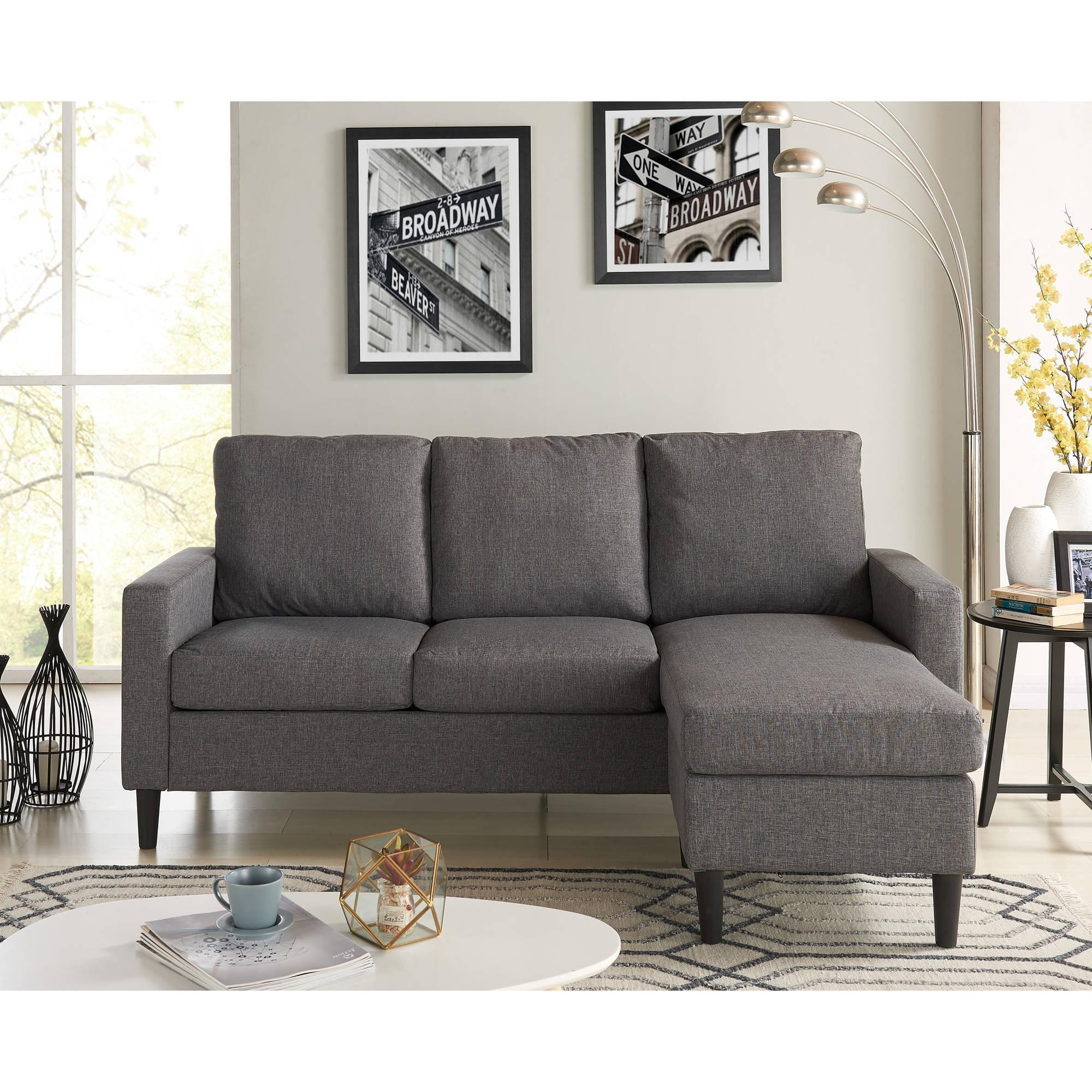 Mainstays Apartment Reversible Sectional – Walmart Intended For Apartment Sectional (Image 14 of 15)