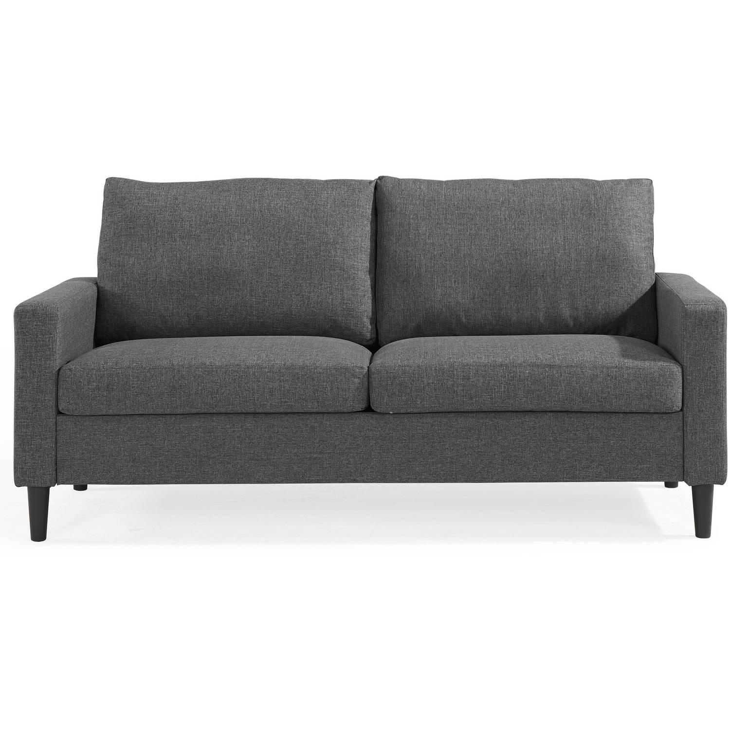 Mainstays Apartment Sofa, Multiple Colors – Walmart Throughout Mainstay Sofas (Image 8 of 20)