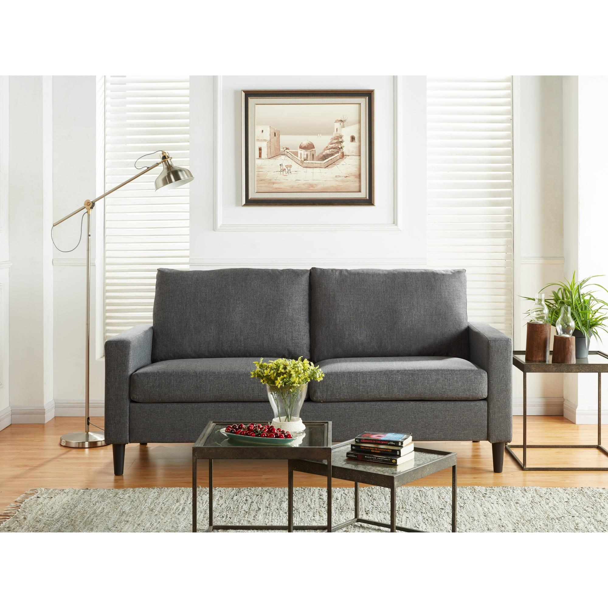 Mainstays Apartment Sofa, Multiple Colors – Walmart Throughout Mainstay Sofas (Image 7 of 20)