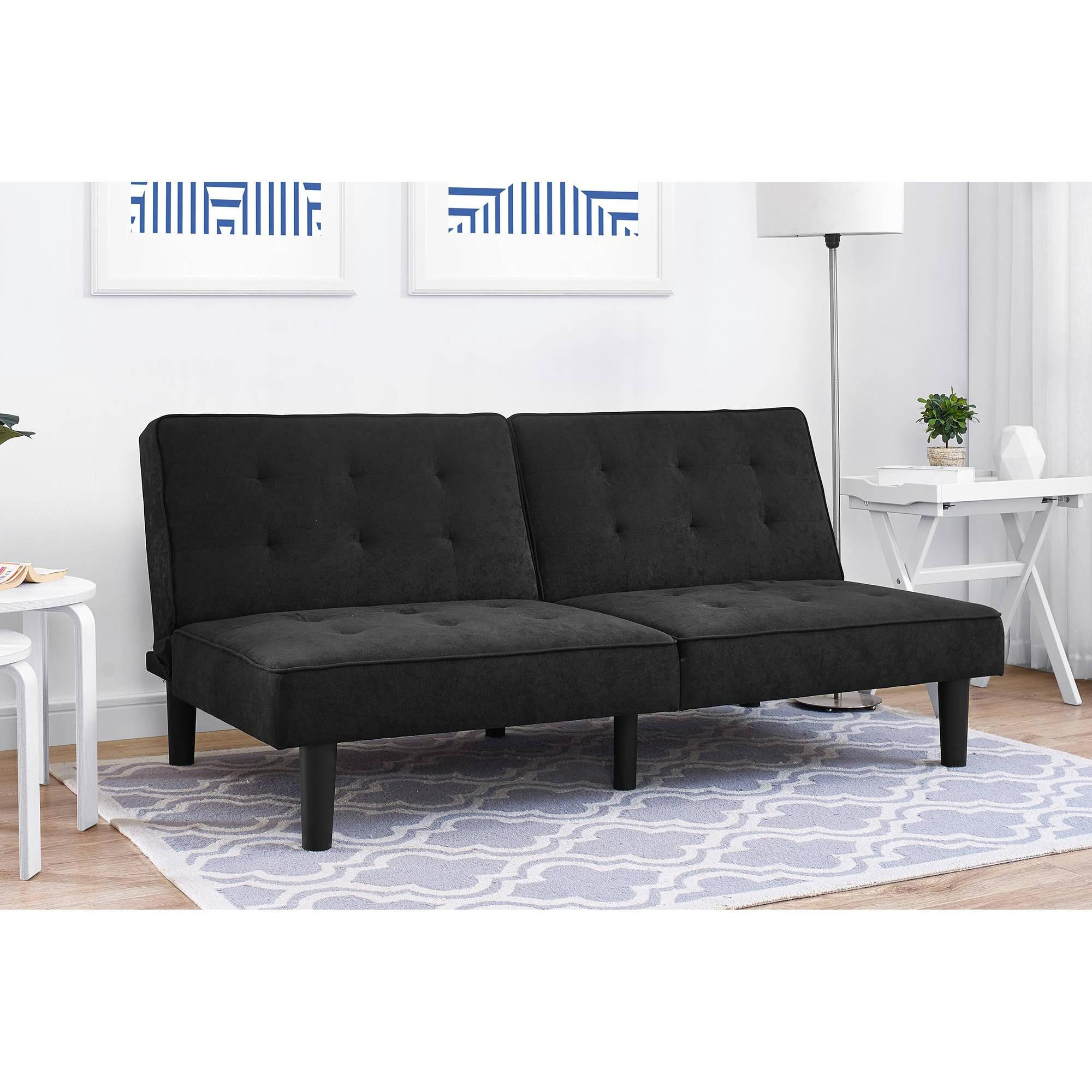 Mainstays Arlo Futon, Multiple Colors – Walmart With Mainstay Sofas (Image 9 of 20)