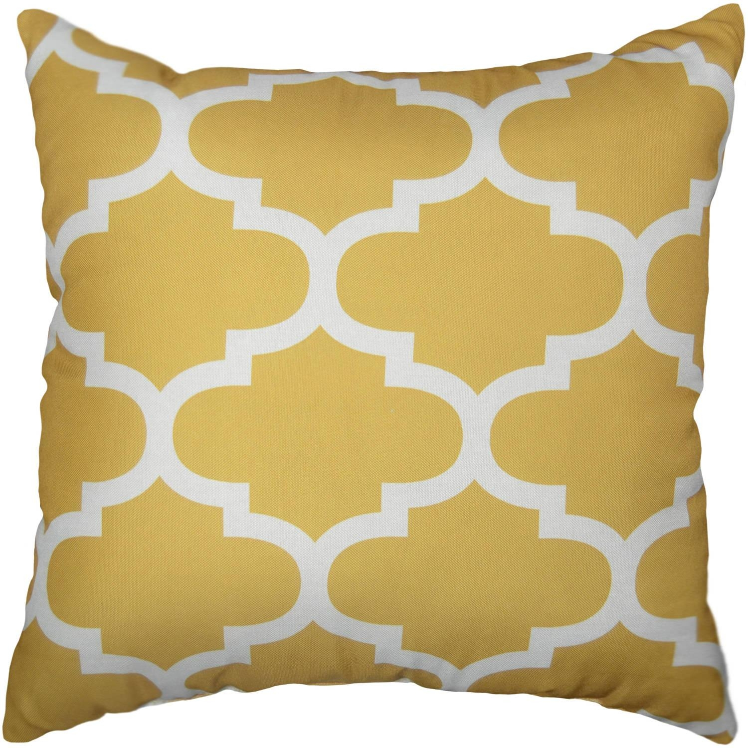 Mainstays Fretwork Decorative Pillow – Walmart With Regard To Gold Sofa Pillows (Image 14 of 20)