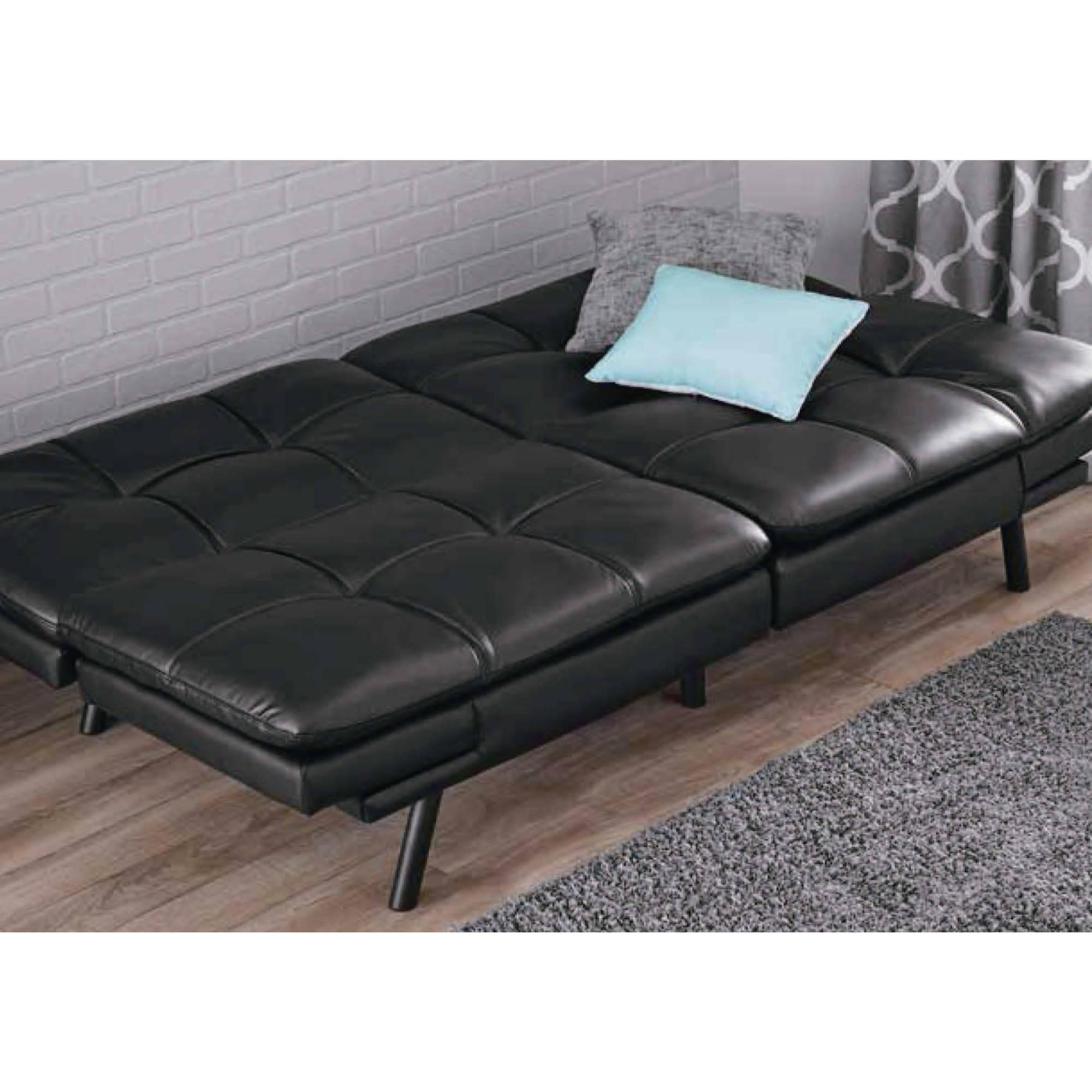 Mainstays Memory Foam Futon, Multiple Colors – Walmart With Regard To Mainstay Sofas (Image 14 of 20)
