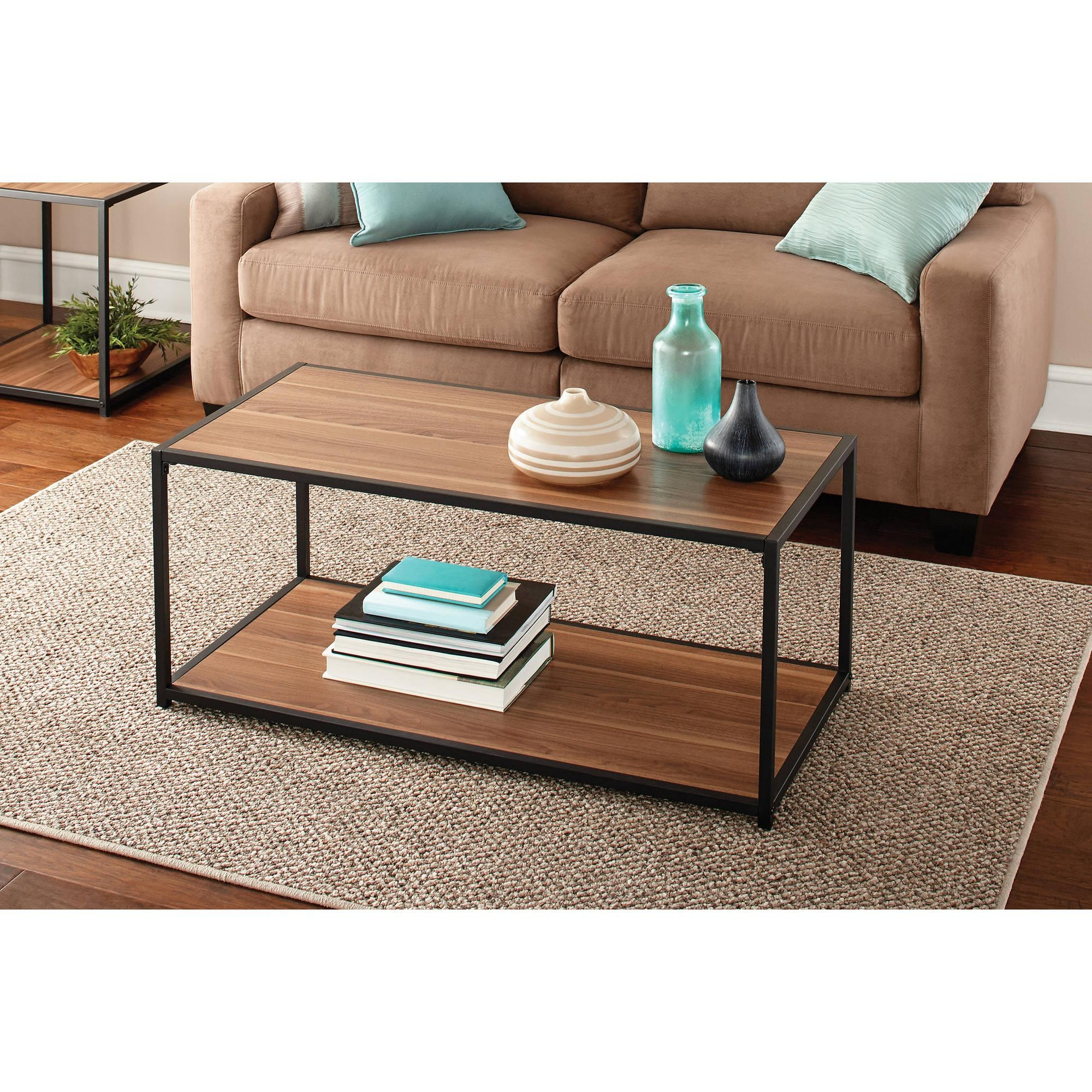 Mainstays Metro Coffee Table, Multiple Finishes – Walmart Intended For Mainstay Sofas (View 18 of 20)
