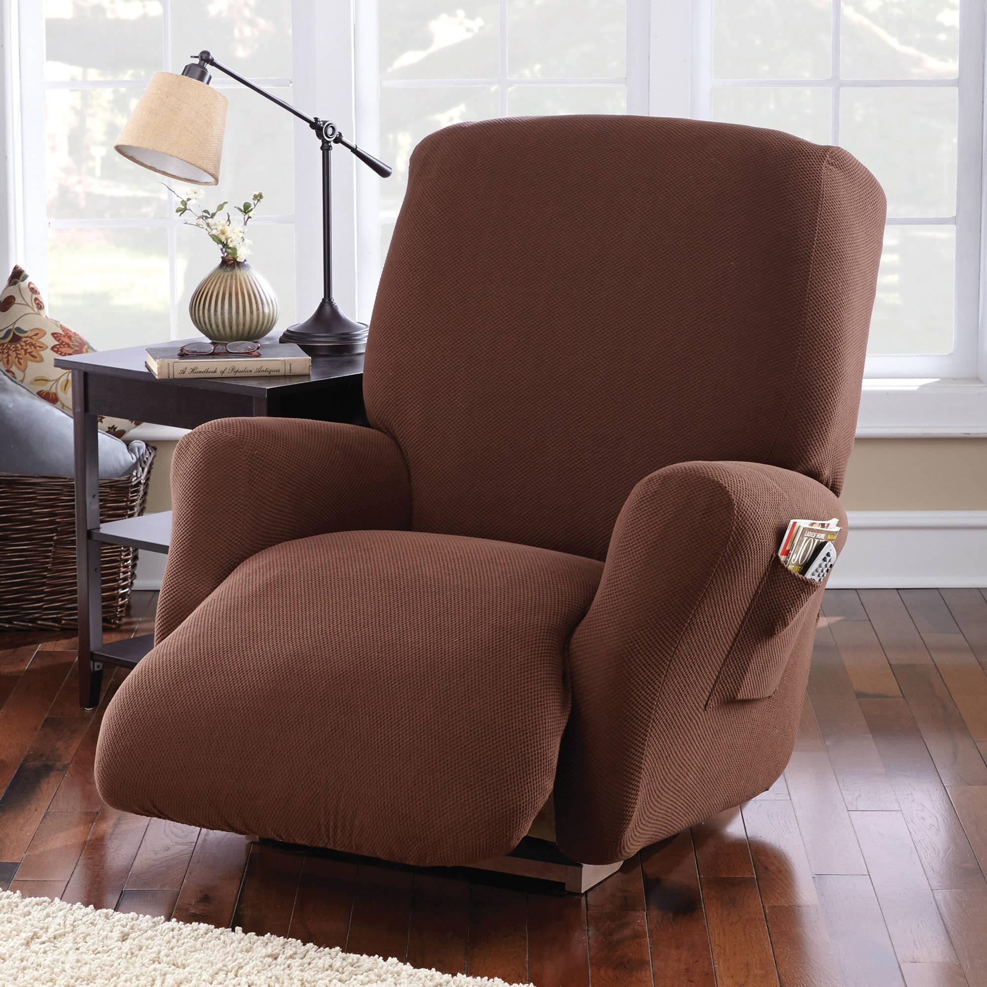 Mainstays Pixel Recliner Slipcover – Walmart Throughout Slipcover For Recliner Sofas (View 14 of 20)