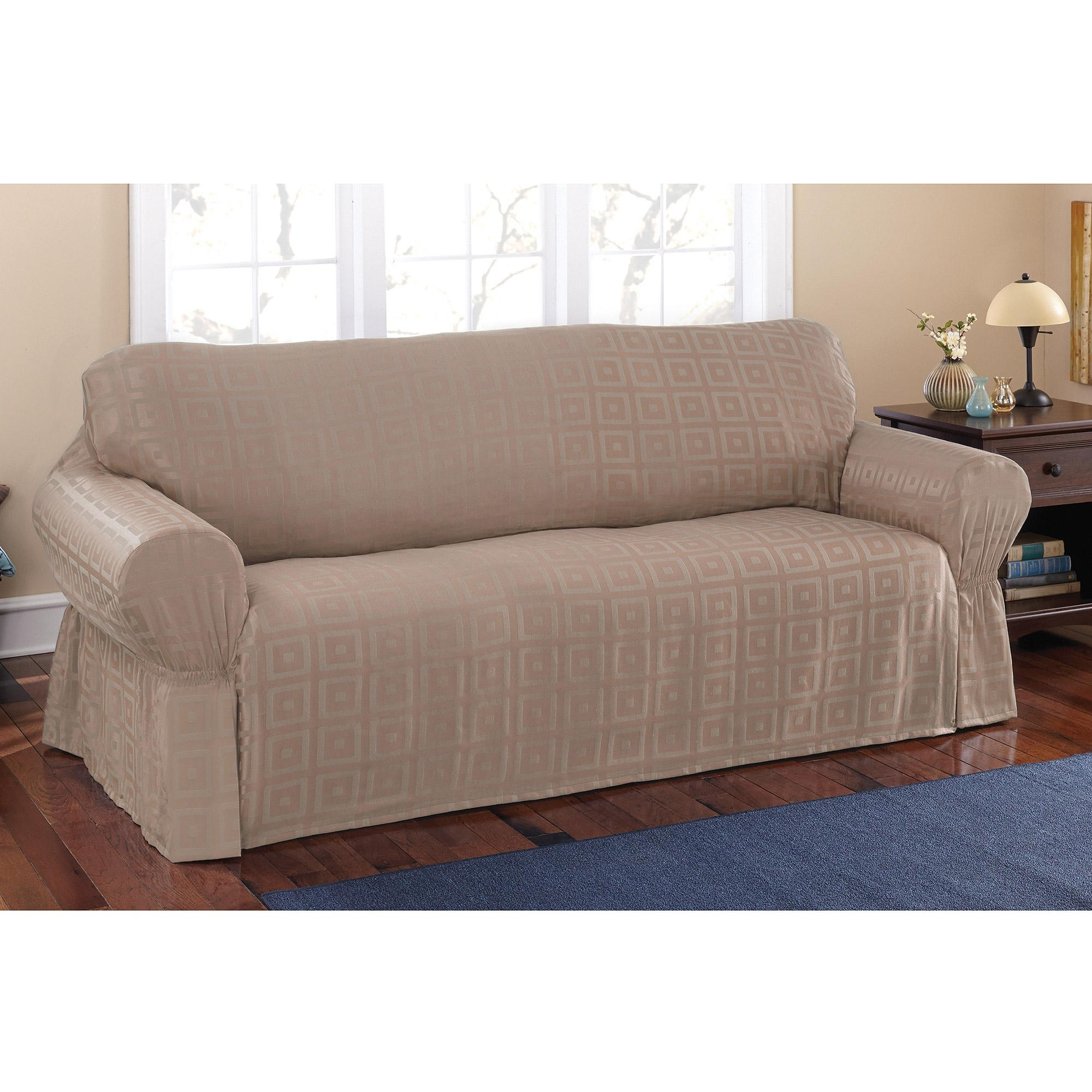 Mainstays Sherwood Slipcover Sofa – Walmart Throughout Walmart Slipcovers For Sofas (Image 13 of 20)