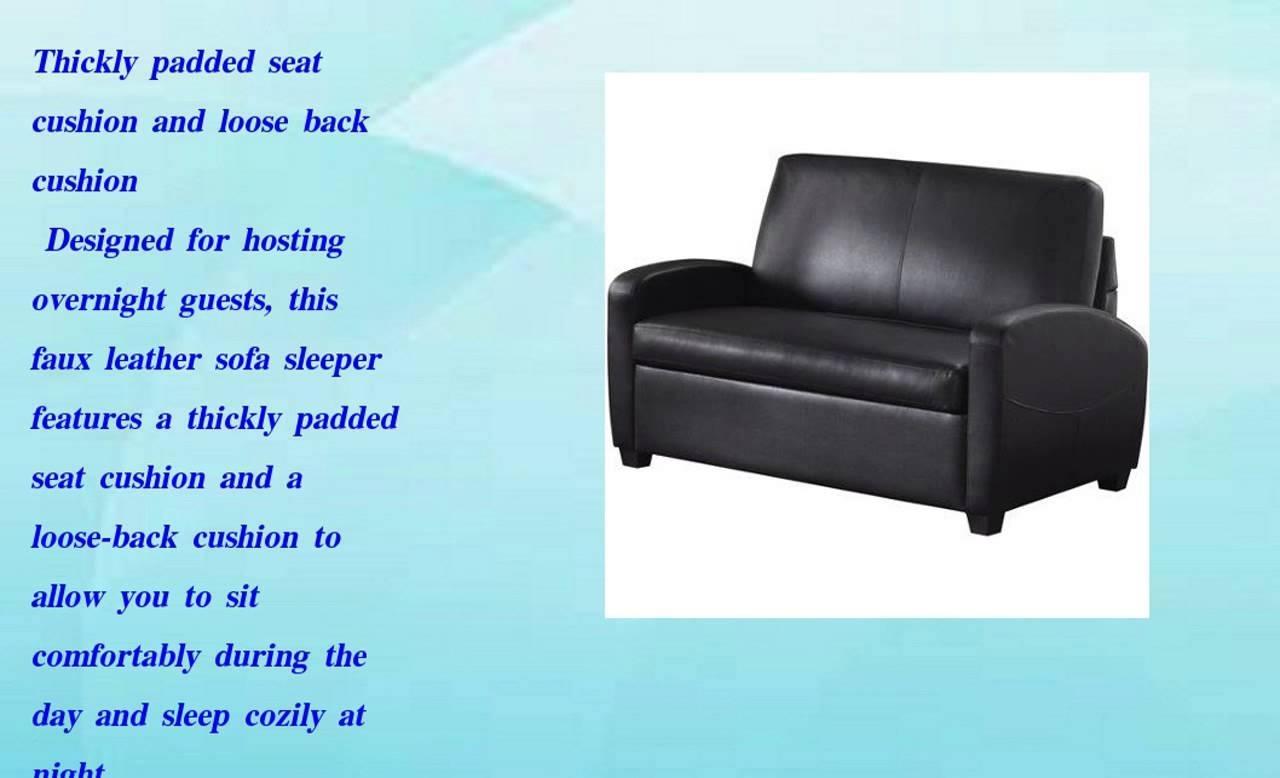 Mainstays Sofa Sleeper Black Faux Leather – Hereo Sofa With Mainstays Sleeper Sofas (Image 9 of 20)