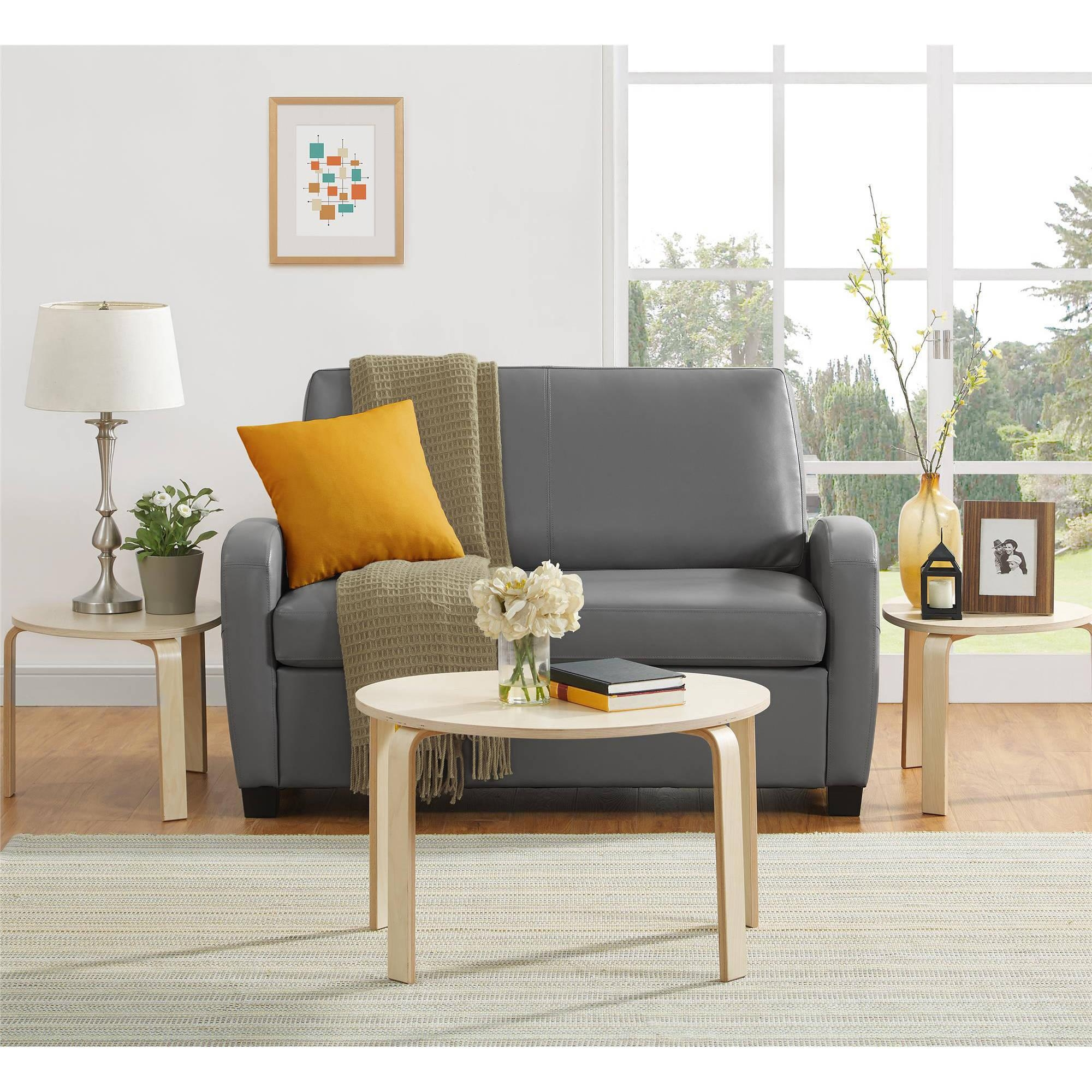 Mainstays Sofa Sleeper, Black – Walmart Inside Mainstays Sleeper Sofas (View 14 of 20)