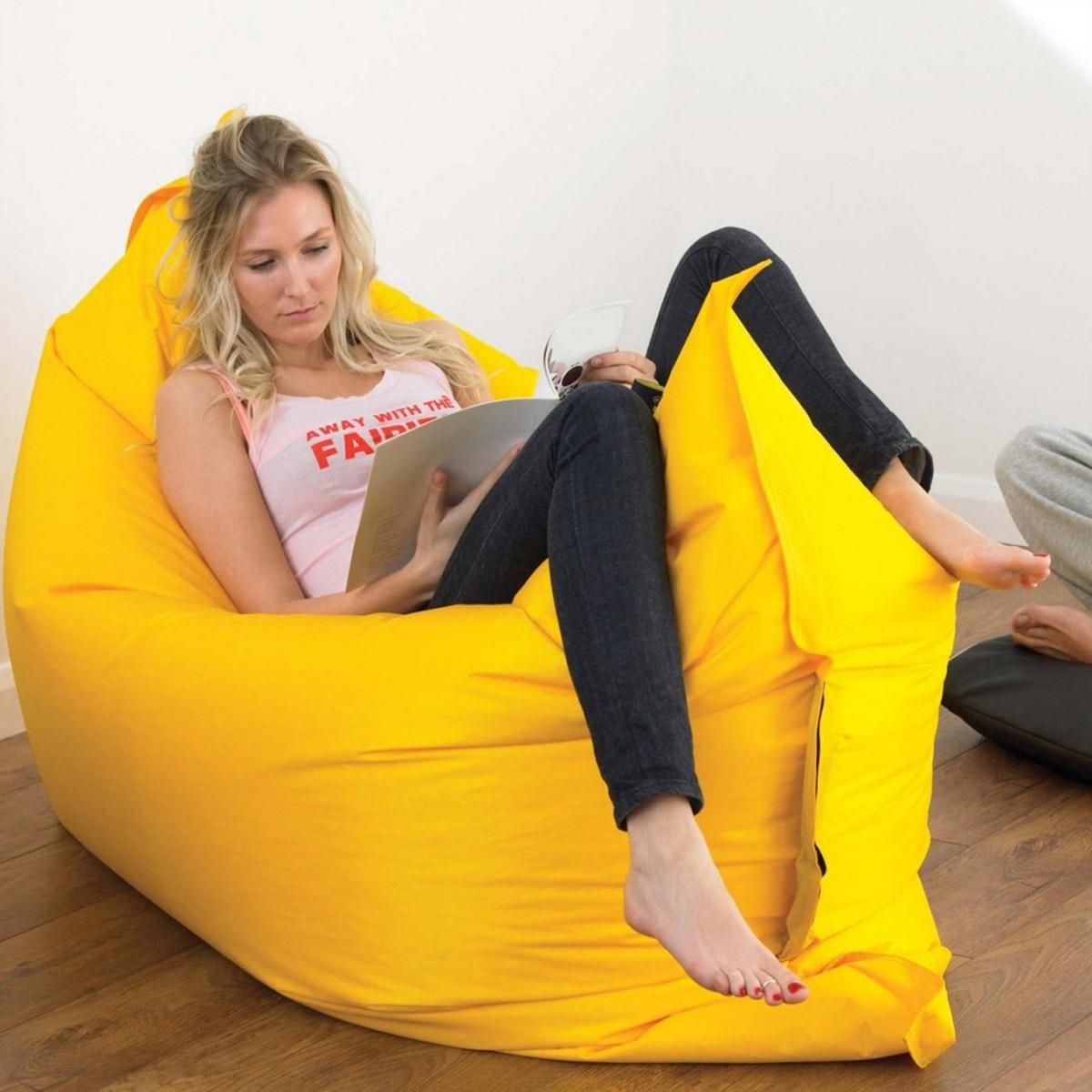 Making Giant Bean Bag Chair | Home Decorations Ideas Intended For Giant Bean Bag Chairs (Image 20 of 20)