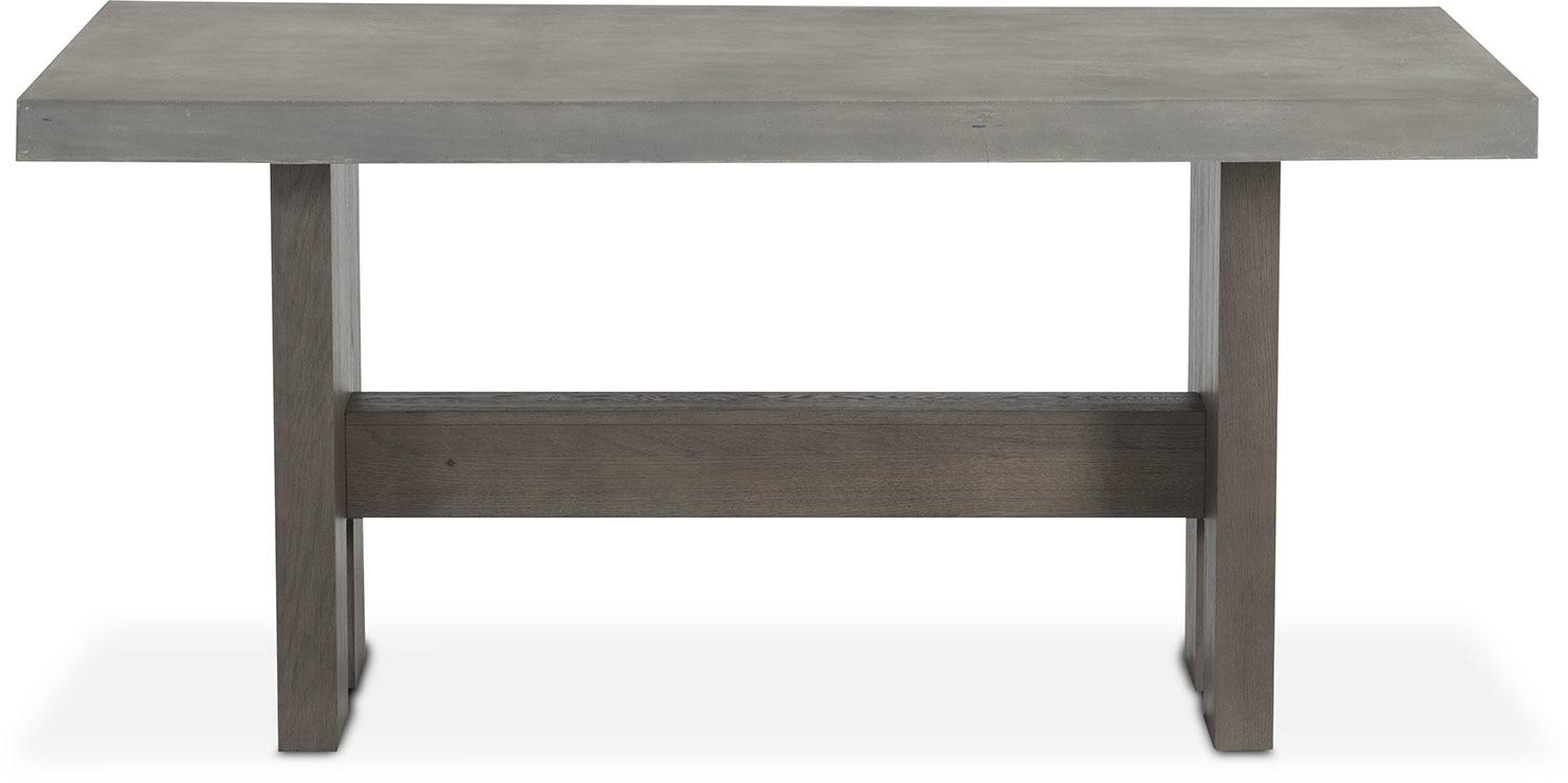Malibu Rectangular Counter Height Concrete Top Table – Gray Intended For Counter Height Sofa Tables (View 11 of 20)
