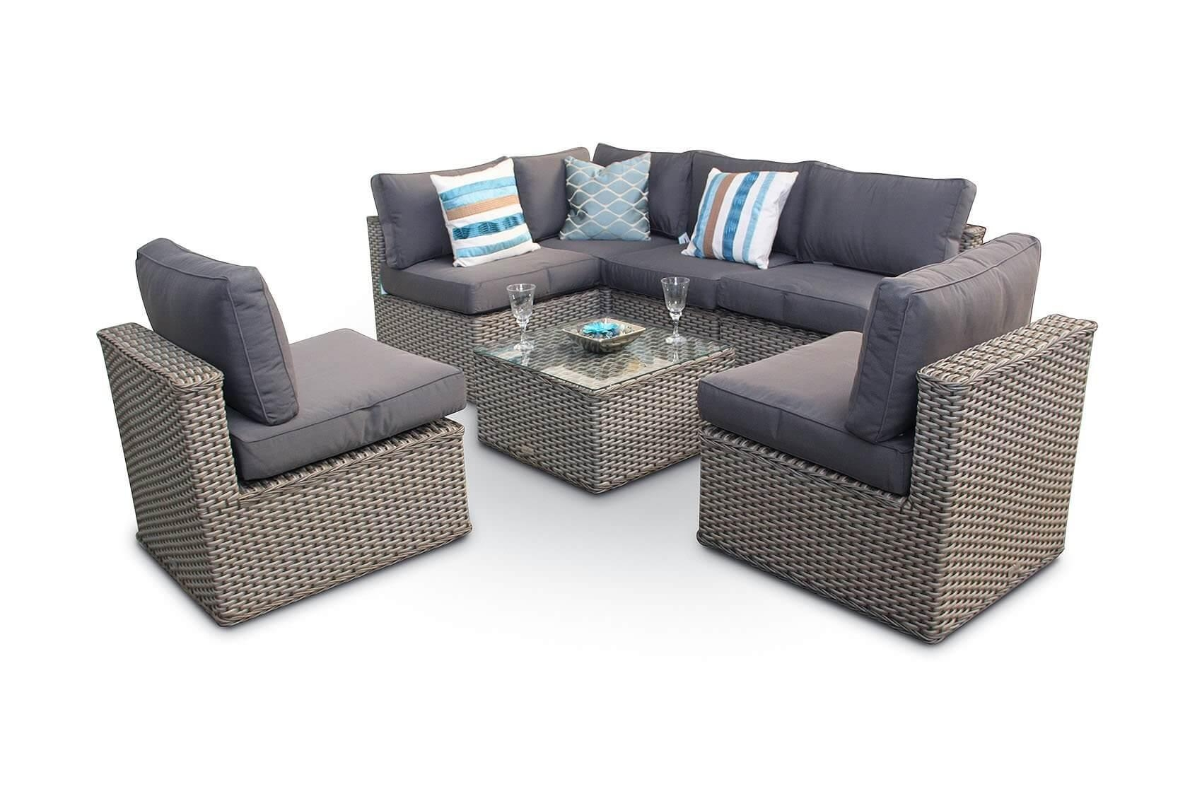 Manchester 10Pc Modular Rattan Sofa Dining Corner Sofa Set With Within Corner Sofa Chairs (Image 14 of 20)