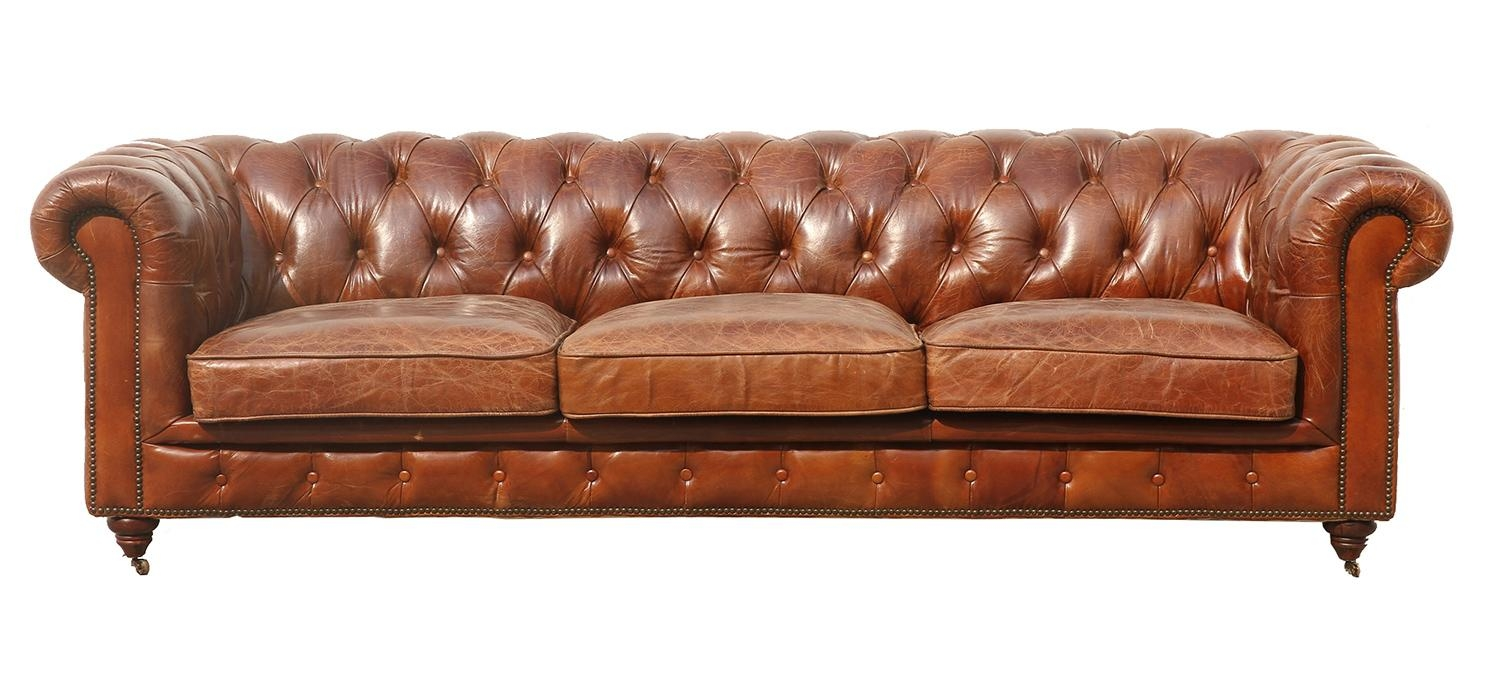 Manchester Leather Tufted Sofa – 3009 – Pasargad Carpets Intended For Manchester Sofas (Image 13
